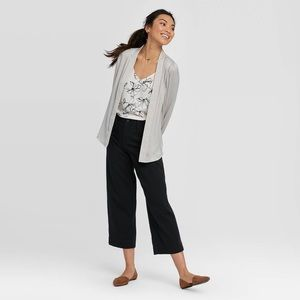 A New Day Wide Leg High-Rise Cropped Black Pant